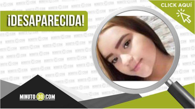 Salomé Rodríguez Castrillón desapareció desde el 13 de septiembre en Bello