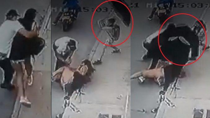 Niño cogió a sombrillazos a ladrón que le iba a robar el celular a su mamá