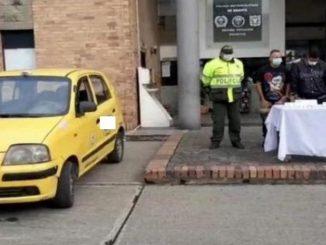 taxi sujetos armados bgota municion