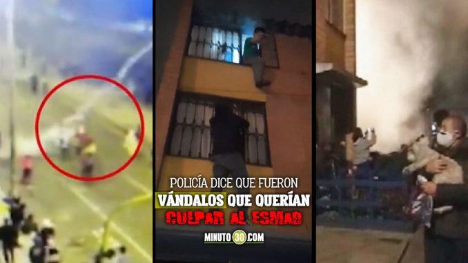Terror en Bogotá: lanzaron gases lacrimógenos contra viviendas