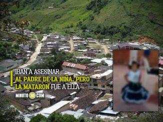 Niña de 3 añitos fue asesinada en Argelia, Cauca