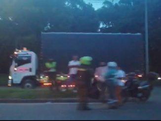 Se registró un accidente de tránsito en la Avenida Regional a la altura de la Calle Colombia