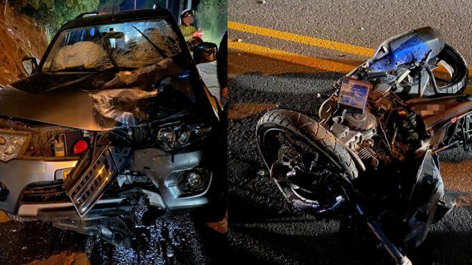 ¡Lamentable! Motociclista perdió la vida en un accidente de tránsito entre La Ceja y Rionegro