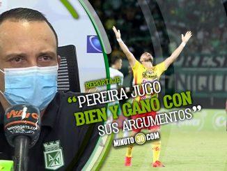 Alejandro Restrepo compartio reflexiones tras derrota ante Pereira