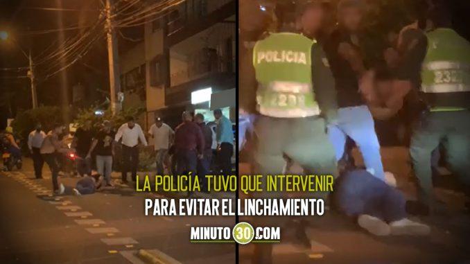 [Video] Así 'atendieron' a un presunto ladrón por la 70 de Medellín