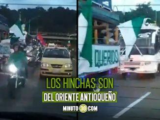¡Dieron ejemplo! Barristas del Atlético Nacional y Deportivo Independiente Medellín se cruzaron sin lío