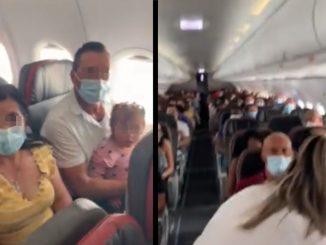 ¡Hicieron 'vaca'! Querían bajar a un bebé de un vuelo Medellín - Cali y los pasajeros no lo permitieron