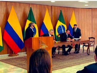 Colombia y Brasil firman siete acuerdos de cooperacion en la visita de Duque