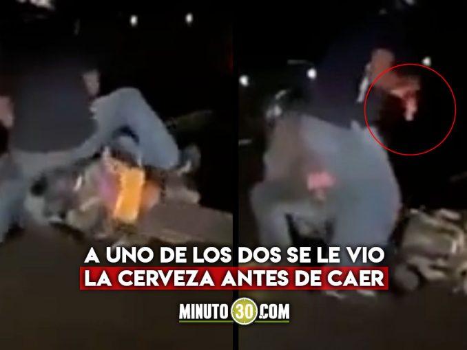 caída moto borrachos