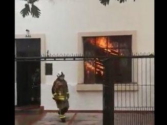 Grave incendio en fundación de rehabilitación en Bucaramanga