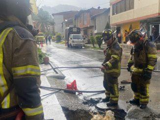 Reportaron un incendio en la red de gas en Belén Los Alpes, hay un funcionario de EPM lesionado