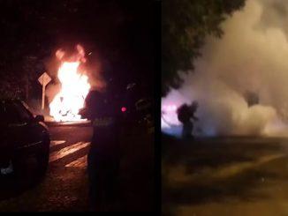 [Video] ¡Terrible! Un carro se incendió en Manrique
