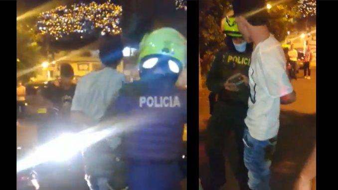 [Video] ¡Ladrón terminó robado! En Aranjuez cogieron a una 'rata' le dieron 'paloterapia' y le desaparecieron la moto