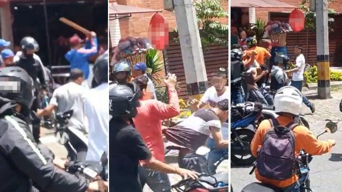 [Video] A 'tablazos' y piedras fueron 'atendidos' dos presuntos ladrones en la Bolivariana