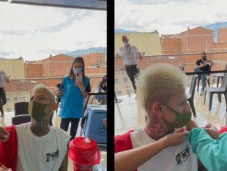 [Video] 'La Liendra' fue a vacunarse contra el Covid y armó todo un show