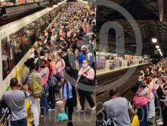 Aunque ya hay servicio, algunas estaciones del Metro están colapsadas