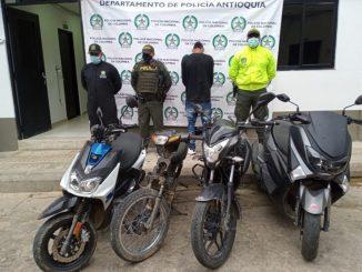 Policía recuperó siete motos y dos carros que se habían robado