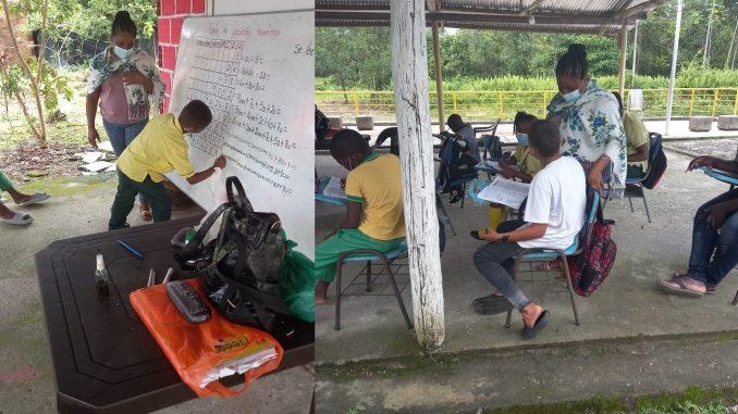 Niños en el Chocó están recibiendo sus clases en una discoteca