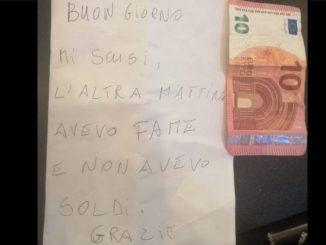 """Ladrón que robó en una panadería volvió, dejó un billete y una nota: """"Perdón, tenía hambre y no tenía dinero"""""""
