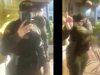 [Video] Por una gorra casi se agarran un policía y su capitán