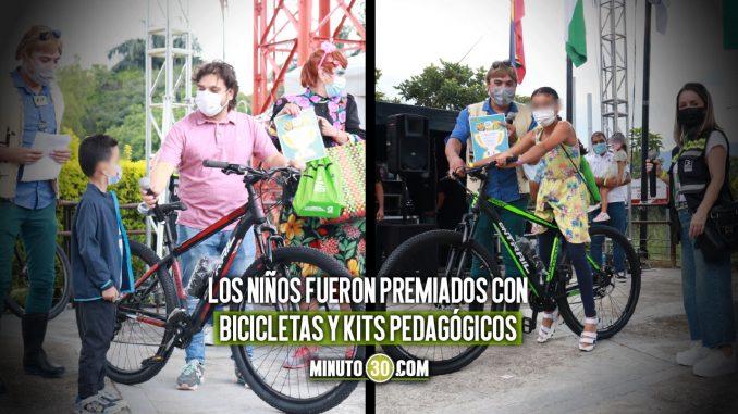 Seis Niños de Medellín fueron premiados en un concurso de Movilidad Sostenible