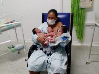 Esperaba un bebé y les llegaron tres ¡Qué bendición!
