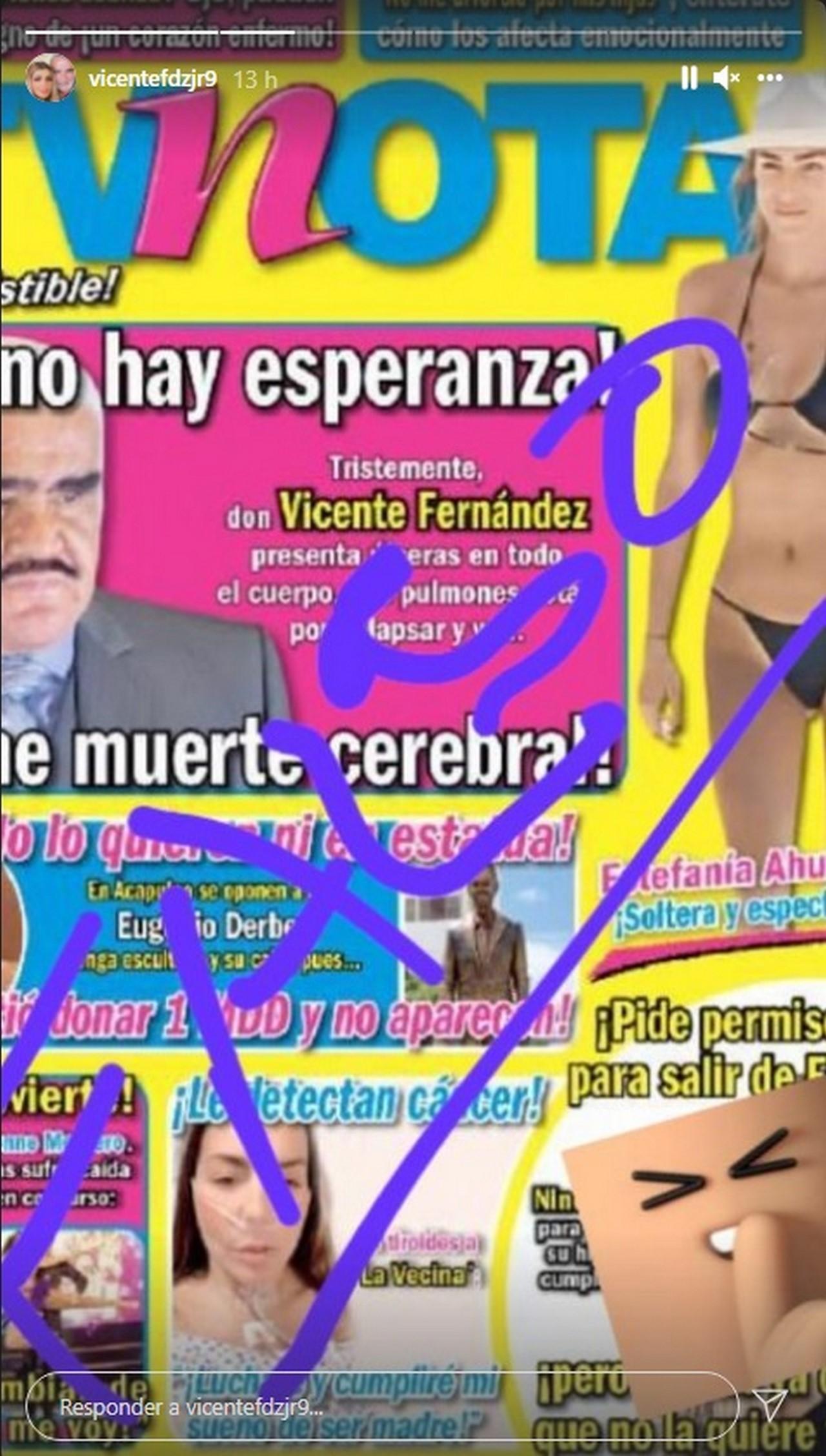 Vicente Fernandez tendria muerte cerebral 2