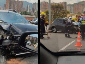 [Fotos y video] Fuerte accidente en el puente Rafael Uribe Uribe