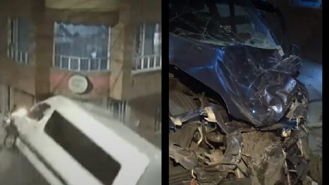 Carro iba en contravía y le dio a una van que chocó una casa