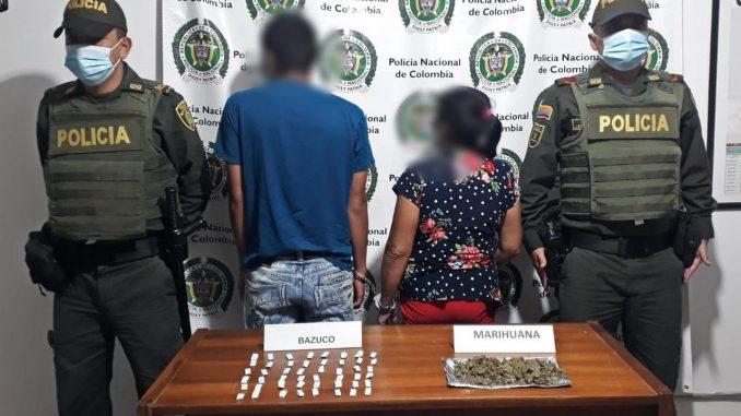 Los cogieron en el municipio de Santo Domingo con bazuco y marihuana