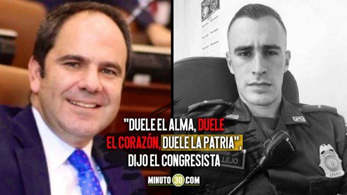 Recompensa por asesinos del policía Juan Pablo Vallejo