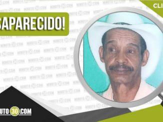 Gildardo de Jesús Chavarría Montoya desaparecido