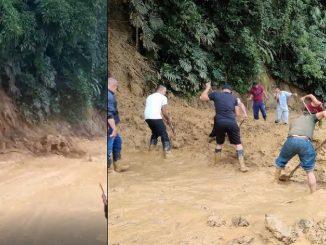 Denuncian erosión de tierra en la vía Barbosa-Santo Domingo
