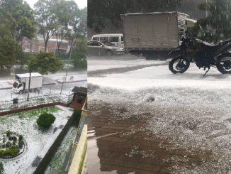 Tremenda granizada cayó esta tarde en Bogotá