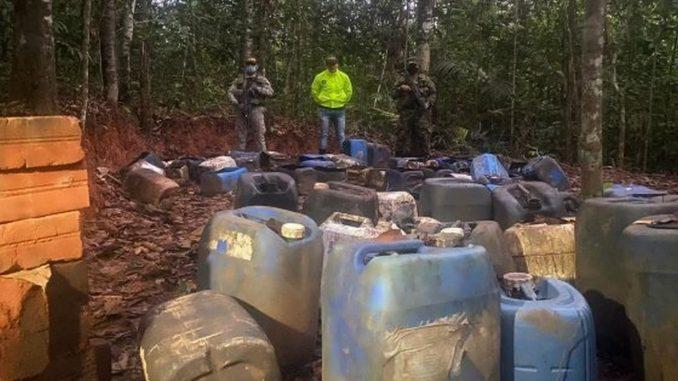 Destruyeron 20 laboratorios de pasta base de coca en el sur