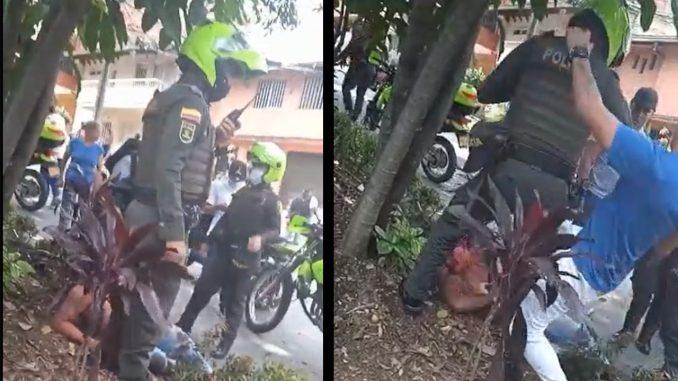 [Video] 'Cascaron' a un presunto ladrón en Bello