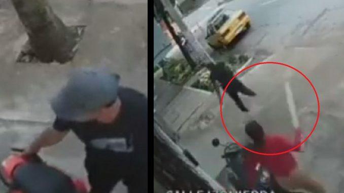 Mujer enfrentó con un palo a ladrón en Medellín