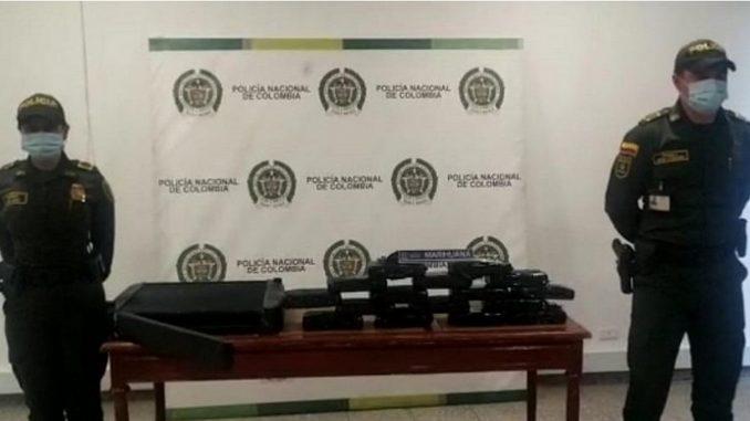 20 kilogramos de marihuana iban camuflados en 2 radiadores de camión - Noticias de Colombia