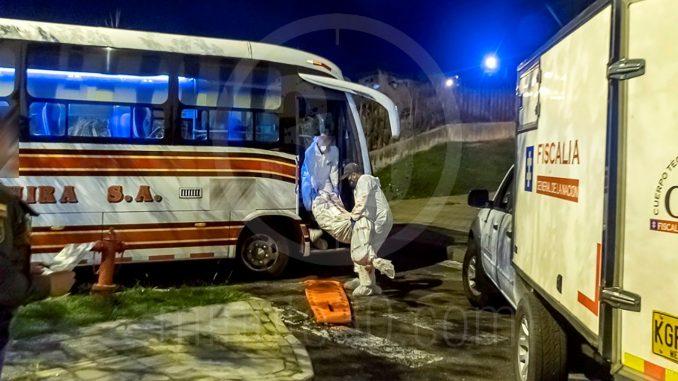 Mataron a un hombre dentro de un bus que venía de San Pedro de los Milagros