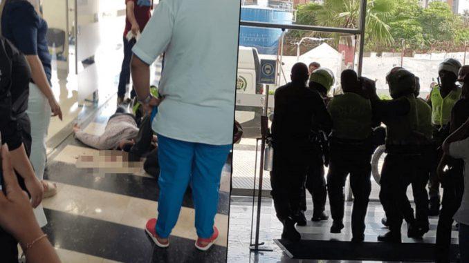 Policía de civil que hacía unas vueltas en un banco de Barranquilla frustró un robo en el lugar
