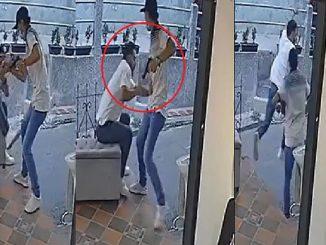 Ladrón le arrebató celular a hombre en local de Cabañas