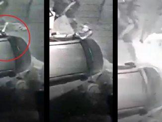Llegó a robarse un retrovisor pero la alarma lo asustó