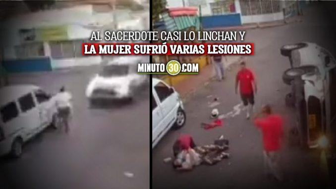 Sacerdote borracho atropelló a una mujer en Cúcuta