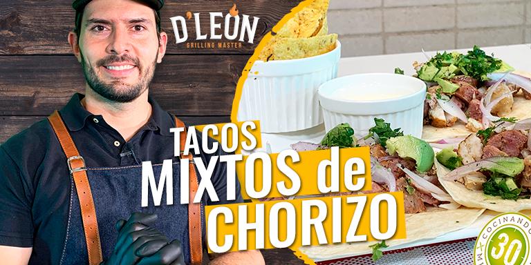 4 D LEON TACOS MIXTOS DE CHORIZO 768