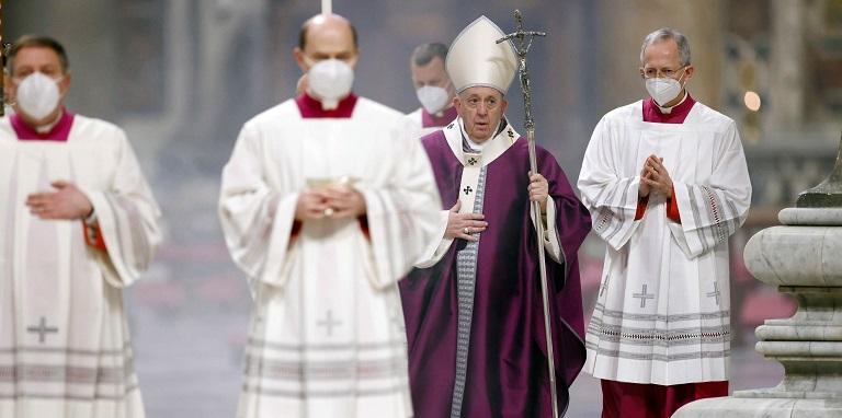 El nuevo rito con el que el papa Francisco celebró el Miércoles de ceniza