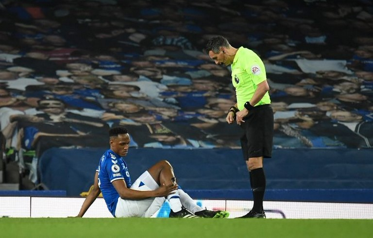 Yerry Mina con el Everton