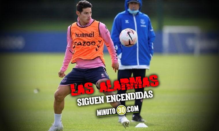 Situacion de James Rodriguez en el Everton inquieta en Colombia
