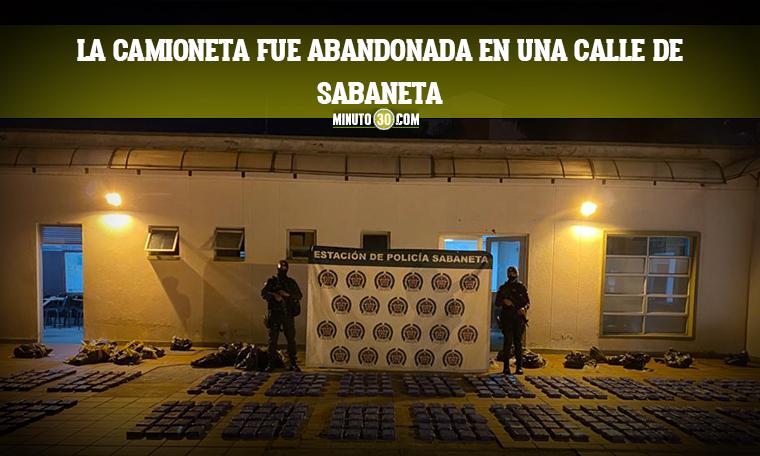 Incautada media tonelada de clorhidrato de cocaina en el municipio de Sabaneta
