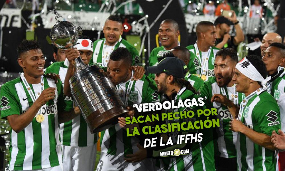 Atletico Nacional es el segundo mejor club de Sudamerica en la ultima decada